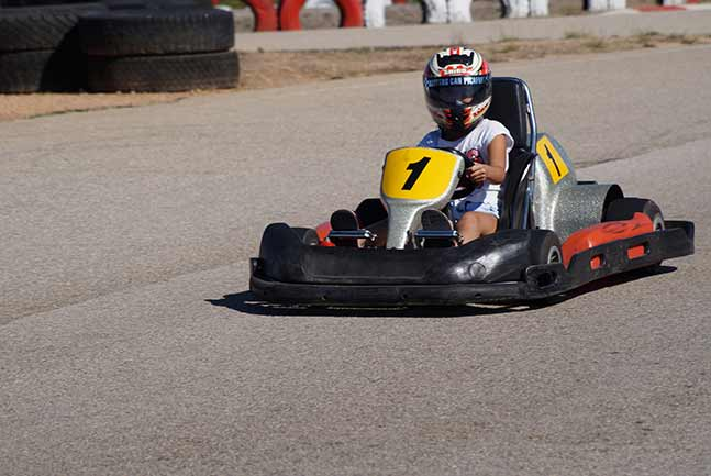 Go-kart on the track