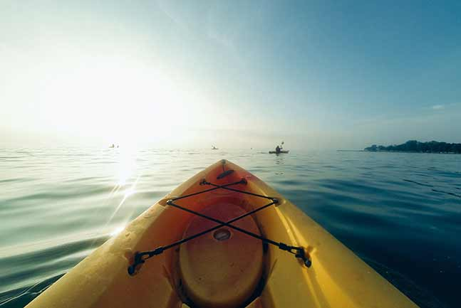 Kayaking on the ocean