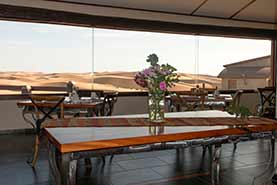 View from main Dining area onto Dunes