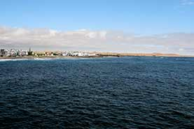 View from the Jetty in Swakopmund over the town