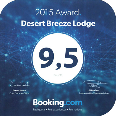 Desert Breeze Booking.com Award
