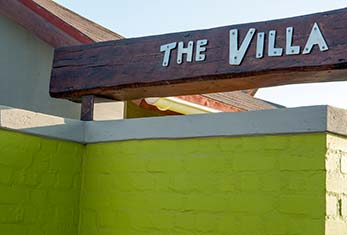 The Villa Sign